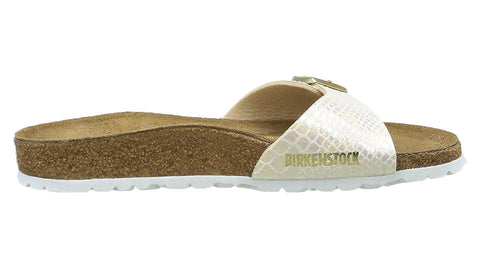 Birkenstock Madrid Shiny Snake Cream