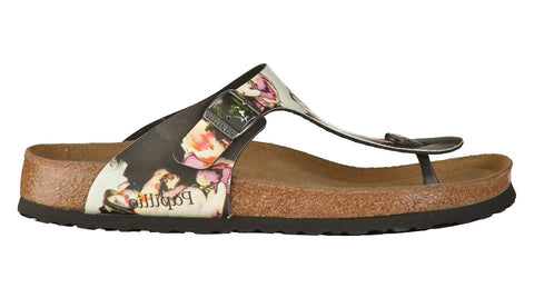 Birkenstock Papillio Gizeh Painted Bloom Black