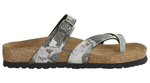 Birkenstock Papillio Tabora Damask Black Soft Footbed