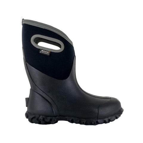 Bogs Men's Ultra Mid Farm Black Work Boots