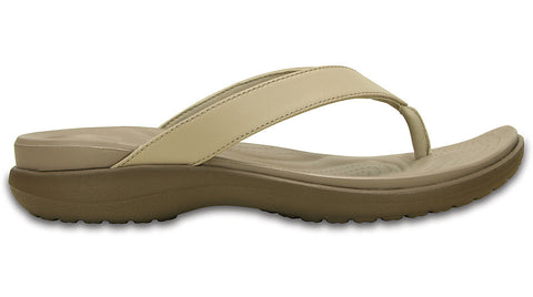 Crocs Capri V Flip Chai Walnut-Thongs
