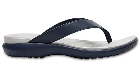 Crocs Capri V Flip Navy Pearl White-Thongs