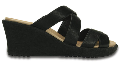 A-Leigh Crisscross Wedge Black