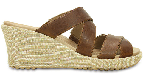A-Leigh Crisscross Wedge Hazelnut Chai