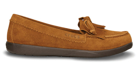 Crocs Adela Suede Moccasin Cinnamon Espresso - Sole Central