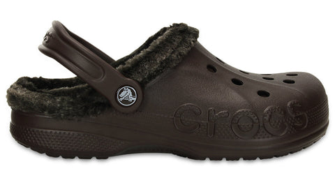 Crocs Baya Heathered Lined Clog Mahogany - Sole Central