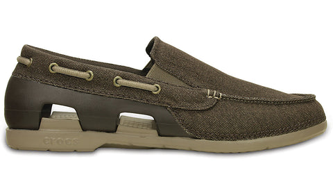 Beach Line Canvas Slip On Espresso Mushroom
