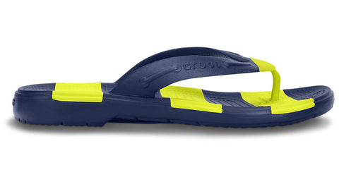 Crocs Beach Line Flip Navy Citrus - Sole Central