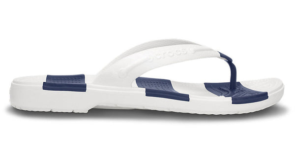 Crocs Beach Line Flip White Navy - Sole Central