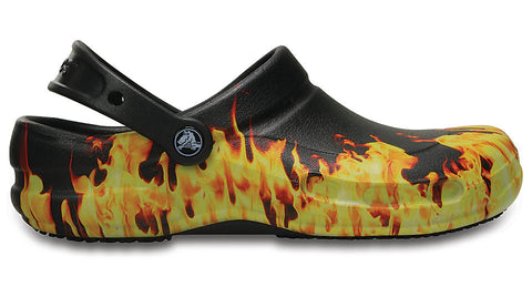 Crocs Bistro Chef Work Clog - Black Flames