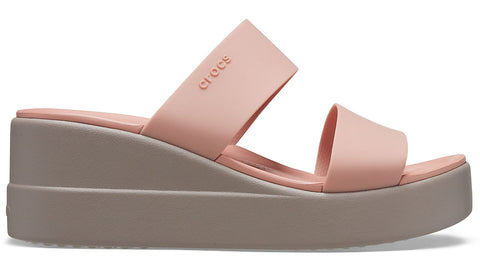 Crocs Brooklyn Mid Wedge Pale Blush