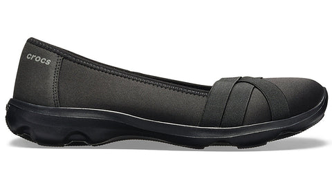 Crocs Busy Day Strappy Flat Black Slate Grey