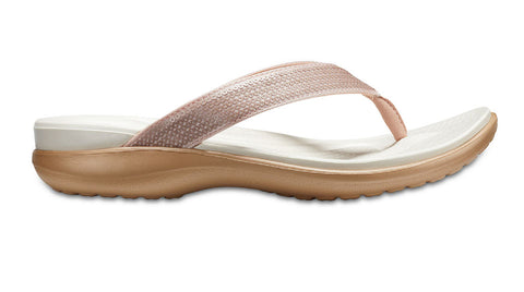 Crocs Capri V Sequin Rose Gold-Thongs