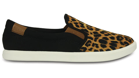 Crocs CityLane Slip-on Sneaker Leopard Black