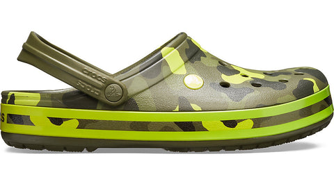 Crocs Crocband Seasonal Graphic Clog Army Green Citrus