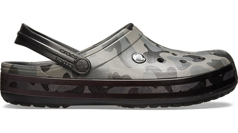 Crocs Crocband Seasonal Graphic Clog Slate Grey Black