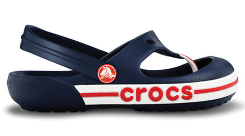Crocs Kids Crocband T-Bar Flip Navy Red