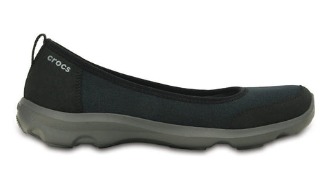 Crocs Duet Busy Day 2 Stretch Canvas Flat Black Graphite - Sole Central