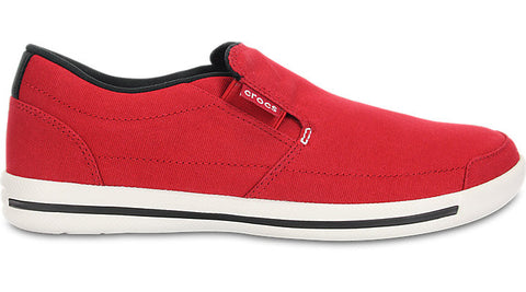Crocs Evercourt Slip On Sneaker True Red White - Sole Central