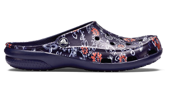 Crocs Freesail Clog Graphic Navy Flower