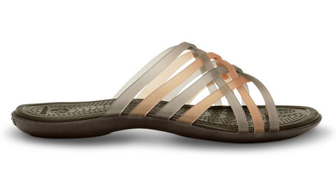 Crocs Huarache Flip Bronze Espresso - Sole Central