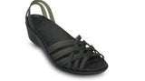 Crocs Huarache Mini Wedge Black - Sole Central