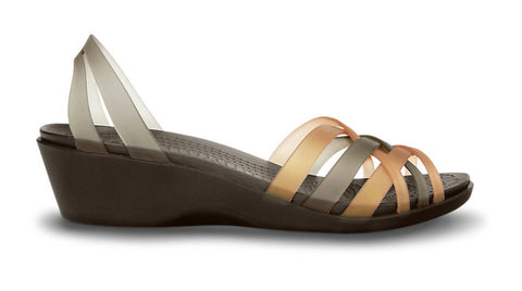 Crocs Huarache Mini Wedge Bronze Espresso - Sole Central
