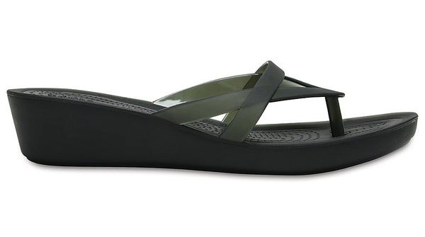Crocs Isabella Wedge Flip Black
