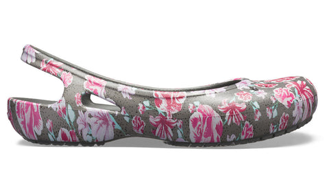 Crocs Kadee Graphic Slingback Multi Floral Slate Grey