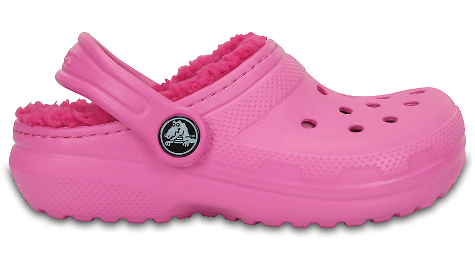 Crocs Kids Fuzz Lined Clog Party Pink