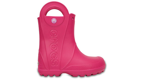 Crocs Kids Handle It Rain Boot Candy Pink-Gumboots