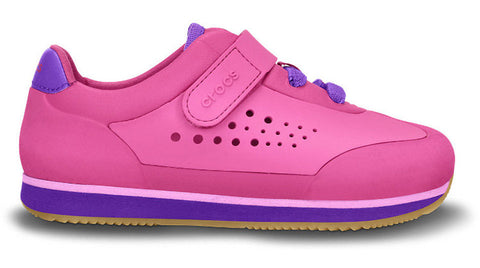 Crocs Kids Retro Molded Sneaker Fuchsia Neon Purple