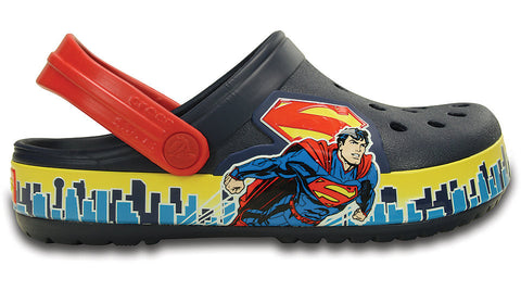 Crocs Kids Superman Clog Navy True Red