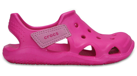 Crocs Kids Swiftwater Wave Neon Magenta-Sandals