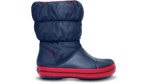 Crocs Kids Winter Puff Boot Navy Red