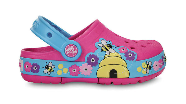Crocs Kids Lights Busy Bee Neon Magenta