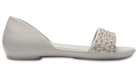 Crocs Lina Embellished Dorsay Pearl White Rose Gold