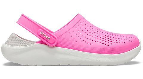 Crocs LiteRide Women's Clog Electric Pink White-Sandals