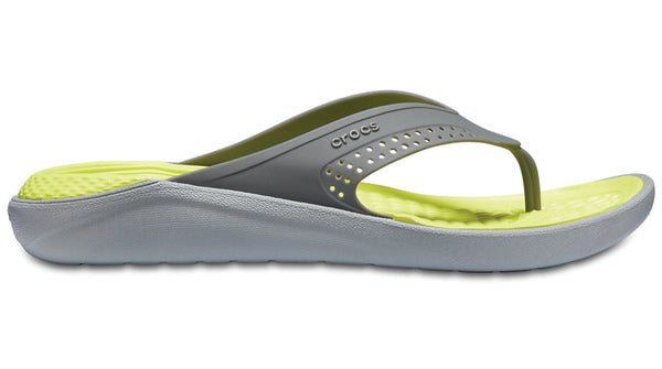 Crocs LiteRide Flip Slate Grey Light Grey-Sandals