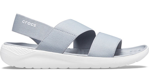 Crocs LiteRide Stretch Sandal Light Grey White-Sandals