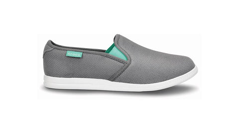 Crocs LoPro Full Vamp Slip on Sneaker Smoke Island Green