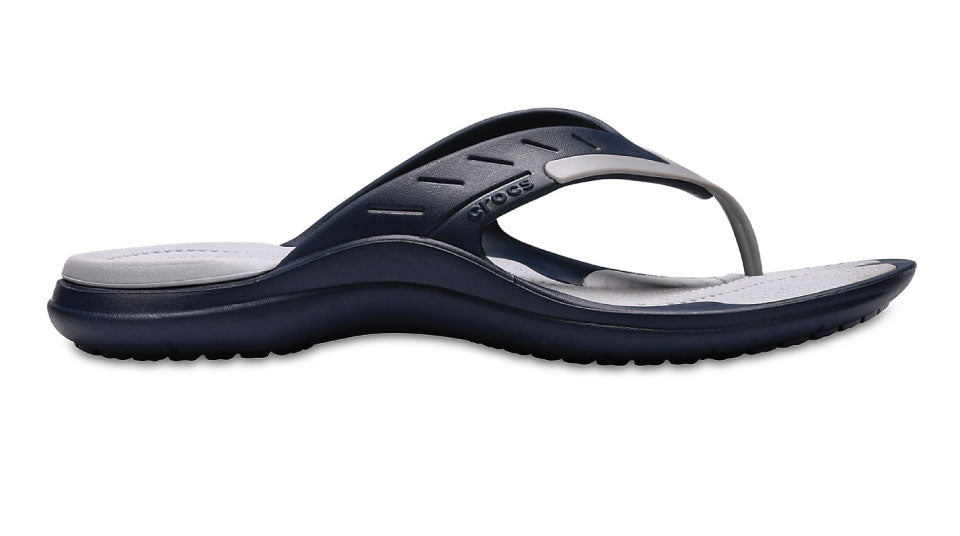 34a671a791f Details about Crocs Modi Sport Flip Navy Light Grey