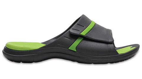 Crocs Modi Sport Slide Graphite Volt Green