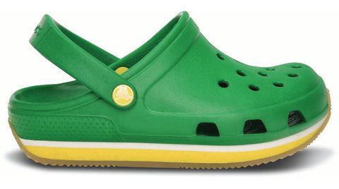Crocs Kids Retro Clog Kelly Green Yellow