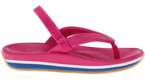 Crocs Kids Retro Flip Fuchsia Sea Blue