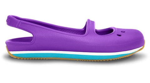 Crocs Kids Retro Mary Jane Neon Purple Surf