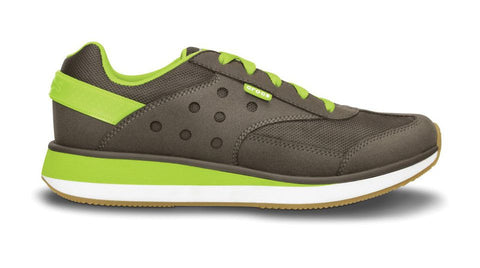 Crocs Retro Sneaker Pewter Volt Green