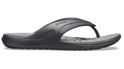 Crocs Reviva Flip Black Slate Grey-Thongs