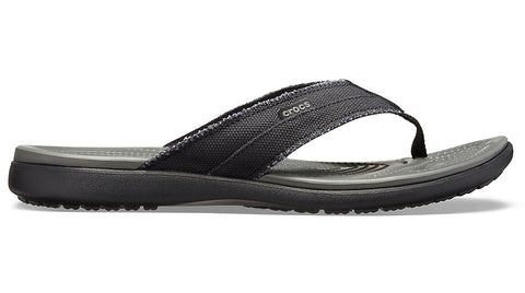 Crocs Santa Cruz Canvas Flip Black Slate Grey
