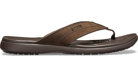 Crocs Santa Cruz Leather Flip Espresso